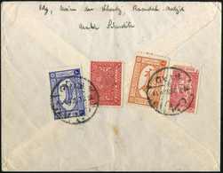 Beleg Flugpost 3 Und 4 G. In Mischfrankatur Mit Freimarke ½ G. Sowie Zwangszuschlagsmarke 1/8 G. (Eckfehler), Rs. Auf Se - Stamps