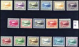 1960/62, Staudamm, 17 Werte, Tadellos Postfrisch, 10 Pia. In Beiden Farben. (Michel: 71/86a/b) - Stamps