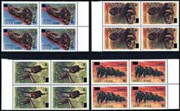 ** Schimpanse, Serie In Tadellos Postfr. Viererblöcken.<br/><b>Katalogpreis: 320,-</b> (Michel: 5067/70(4)) - Stamps