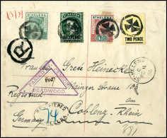 Beleg Königin Victoria, Vier Versch. Werte Auf Dreiseitig Geöffnetem R-Brief Nach Dtld. Und Aufgabestempel ST.HELENA 11/ - Stamps