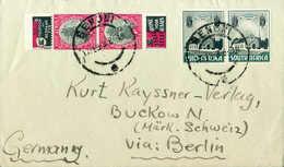 Beleg ½ P. Und 1 P., Waagr. Bzw. Senkr. Paar Auf Tadellosem Brief Mit Stempel BENONI 17/2 36 Nach Dtld.<br/><br/><span S - Stamps