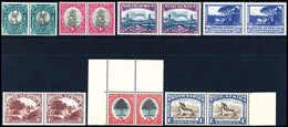 ** Landesmotive, Serie In Tadellos Postfr., Waagr. Paaren.<br/><b>Katalogpreis: 170,-</b> (Michel: 187/204b(2)) - Stamps