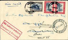 Beleg 1 P., Senkr. Paar Und 2 P. Auf Tadellosem Luftpostbrief Von Grootfontein 21/12 31 Nach Johannisburg, Dort Nicht Zu - Stamps