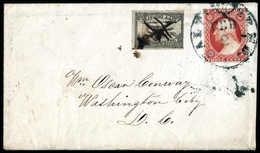 Beleg 3 C. Zusammen Mit Baltimore Carriermarke 1 C. Schwarz Auf Kab.-Brief Mit Stempel BALTIMORE Nach Washington D.C. (M - Stamps