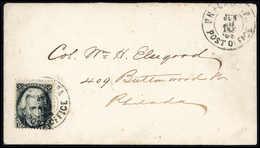 2 C., Einzelfrankatur Auf Schönem Ortsbrief Mit Stempel PHILADELPHIA POST OFFICE 8/6 64. (Michel: 17) - Stamps