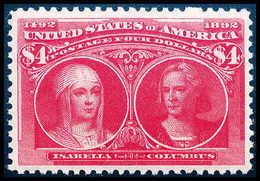 ** 4 $ Columbus, Postfr. Luxusstück In Erstklassiger Zähnung Und Zentrierung. In Dieser Herausragenden Qualität Eine Gan - Stamps