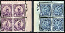 ** Olympiade 1932, Tadellos Postfr. Plate-Blocks Mit Platten-Nr. Im Bogenrand. (Michel: 348/49(4)) - Stamps