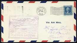 Beleg U.S.S. Akron, Tadelloser Umschlag 5 C. Der Transkontinentalfahrt Lakehurst - San Diego Mit Allen Stempeln. - Stamps