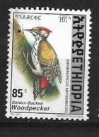ETHIOPIA   -  1998 Golden-mantled Woodpecker   BIRD   USED - Ethiopie