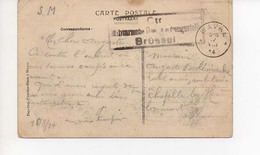 Wavre 17 08 1914  Censure Brussel - Armée Belge