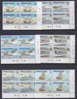 Falkland Islands 2001 Royal Navy Ships 6v Bl Of 4 (corner) ** Mnh (37774A) - Falklandeilanden