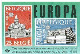 Fiche Publicitaire  Timbre  2367 à 2368 - 2376A - 2377 à 2381 - 2383 à 2386 - Belgique
