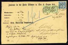 Beleg 1 Kr., Waagr. Paar Mit 7 Kr. Blau Auf Rs. Nicht Ganz Kpl. Gelbem Nachnahme-Kuvert (gef.), Ideale K2 RADOLFZELL, Da - Stamps