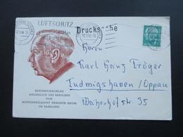 BRD 1958 Heuss I Nr. 181 EF Sonderumschlag Theodor Heuss Besuch Im Saarland - BRD