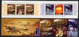 YOUGOSLAVIE 2000, EUROPA, ESPACE, 1 Carnet (SEE SCAN) De 4 Valeurs Et 2 Vignettes, Neuf / Mint. R205 - Europa-CEPT