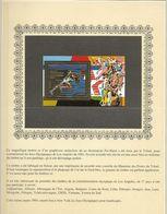République Du Tchad - J.O. Los Angelés 1984 - Bloc Athlétisme  ( Timbre Sur Feuille D'or ) Luxe Rare - Summer 1984: Los Angeles