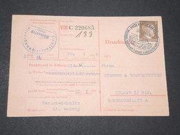 ALLEMAGNE - Formulaire De Points De Mulhouse Pour Colmar En 1944 - L 14294 - Allemagne