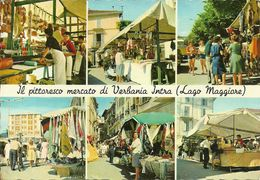 Verbania Intra (Verbano, Piemonte) Vedute Mercato Con Bancarelle, Venditori Ambulanti E Turisti - Verbania