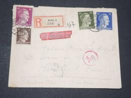 ALLEMAGNE - Enveloppe En Recommandé De Berlin Pour La France En 1943 Avec Contrôle Postal - L 14295 - Allemagne