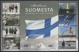 FINLANDIA 2007 Nº 1836/43 EN BLOQUE USADO PRIMER DIA - Finlandia