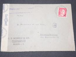 ALLEMAGNE - Enveloppe De Plauen Pour Bruxelles En 1943 Avec Contrôle Postal - L 14297 - Allemagne