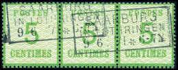 Gest. 5 C., Farbfrischer, Waagr. Dreierstreifen Mit Zwei Sauber Aufges. R3 SAARBURG IN LOTHRINGEN 9/6 71, Re. Marke Ein  - Unclassified