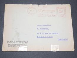 ALLEMAGNE - Enveloppe De Gaggenau Pour La France En 1942 Avec Contrôle Postal - L 14301 - Allemagne