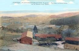 Saint-Amant- Roche-Savine, Canton Des Monts Du Livradois - Panorama Sur Les Escures Et Ambert - Très Beau Plan Couleurs - Courpiere