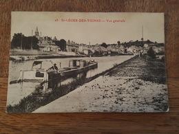 Saint Léger Des Vignes - Vue Générale - Péniche - Cachet Postale Ambulant Dijon à Paris 1 O H - Frankreich