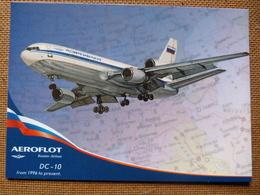 AIRLINE ISSUE / CARTE COMPAGNIE     AEROFLOT   DC 10 - 1946-....: Ere Moderne