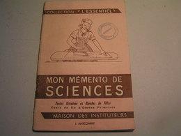 """Mon Mémento De Sciences - Collection """"L'Essentiel"""" - Cours De Fin D'Etudes Primaires - Books, Magazines, Comics"""