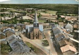 LES MAZURES PLACE DE L'EGLISE VUE D'AVION - France