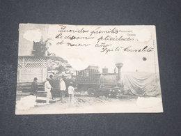 EQUATEUR - Carte Postale ( Abimée ) De Guayaquil , Locomotive Gros Plan En 1905 - L 14310 - Ecuador