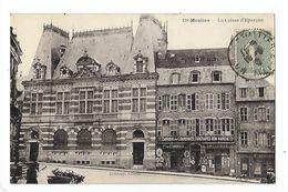 MOULINS  (cpa 03)  La Caisse D'Epargne, Fabrique De Couronnes Funéraires Bon Marché - L 1 - Moulins