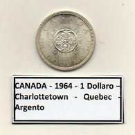 Canada - 1964 - 1 Dollaro - Charlottetown - Quebec - Argento - (MW1204) - Canada