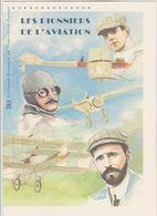 """France : Document Officiel """"Les Pionniers De L'aviation"""" - Neuf état Impeccable - 2 Volets - - Postdokumente"""