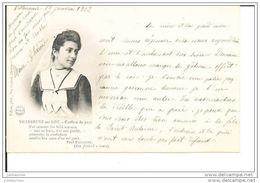 47 VILLENEUVE SUR LOT COIFFURE DU PAYS CPA 1902 - Costumes