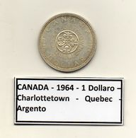Canada - 1964 - 1 Dollaro - Charlottetown - Quebec - Argento - (MW1205) - Canada