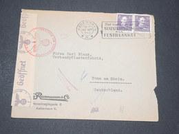 DANEMARK  - Enveloppe Commerciale De Copenhague Pour L 'Allemagne En 1942 Avec Contrôle Postal - L 14320 - 1913-47 (Christian X)