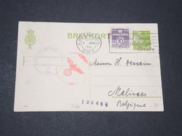 DANEMARK  - Entier Postal + Complément De Copenhague Pour La Belgique En 1941 Avec Contrôle Postal - L 14321 - 1913-47 (Christian X)