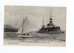 Marine De Guerre Francaise Cuirassé En Rade - Guerre