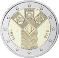 2 € ESTONIE 2018 COMMUNE LES PAYS BALTES - Estonia