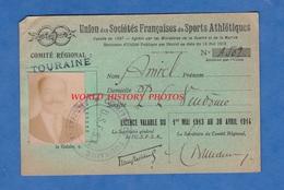Carte D'identité Ancienne - Union Des Sociétés Françaises De Sports Athlétique - VENDOME - 1913 1914 - Transportation Tickets