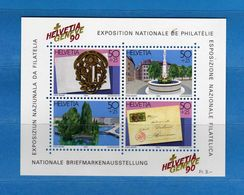 (Riz)Svizzera ** - 1990 - BF. 26 Geneve 90 - Blocks & Sheetlets & Panes