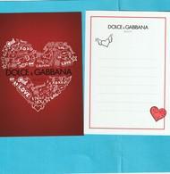 Dolce&Gabbana Carte De St Valentin. R/V - Cartes Parfumées