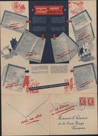 Faux Entier Cérès Publicitaire Pour Croix Rouge Françaie Fausse Oblitération Saint Valle Yonne 26 4 1939 16h30 - Postal Stamped Stationery