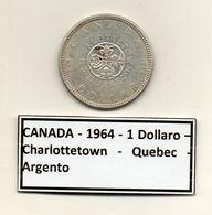 Canada - 1964 - 1 Dollaro - Charlottetown - Quebec - Argento - (MW1207) - Canada