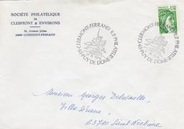 FRANCE - LETTRE SABINE DE GANDON 1.10 - CACHET CLERMONT-FERRAND PHILATELIE PUY DE DÔME 27.11.1979 / 1 - Francia