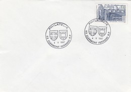 FRANCE - LETTRE EUROPA 2.20 - CACHET PHILATELIE 4.5.1987 CLERMONT-FERRAND 63/ 1 - Storia Postale
