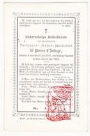 DP Adel Noblesse - Nathalie Maria G. De Potter D'Indoye / De Bay ° Gent 1807 † Kasteel Melle 1869 - Images Religieuses
